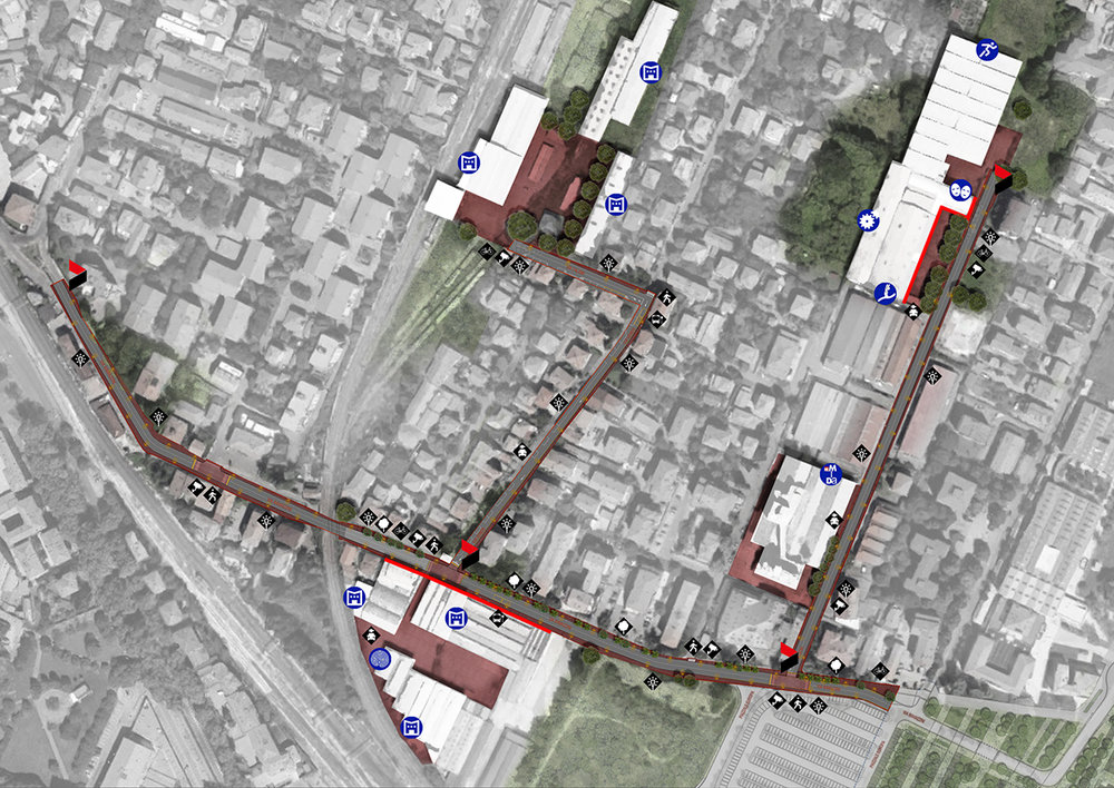 04-12-2017 - Viale Ramazzini Quartiere Santa Croce - ZAA gets I prize in invited competition for urban regeneration of viale Ramazzini, via Gioia, via Talami in Santa Croce Reggio Emilia