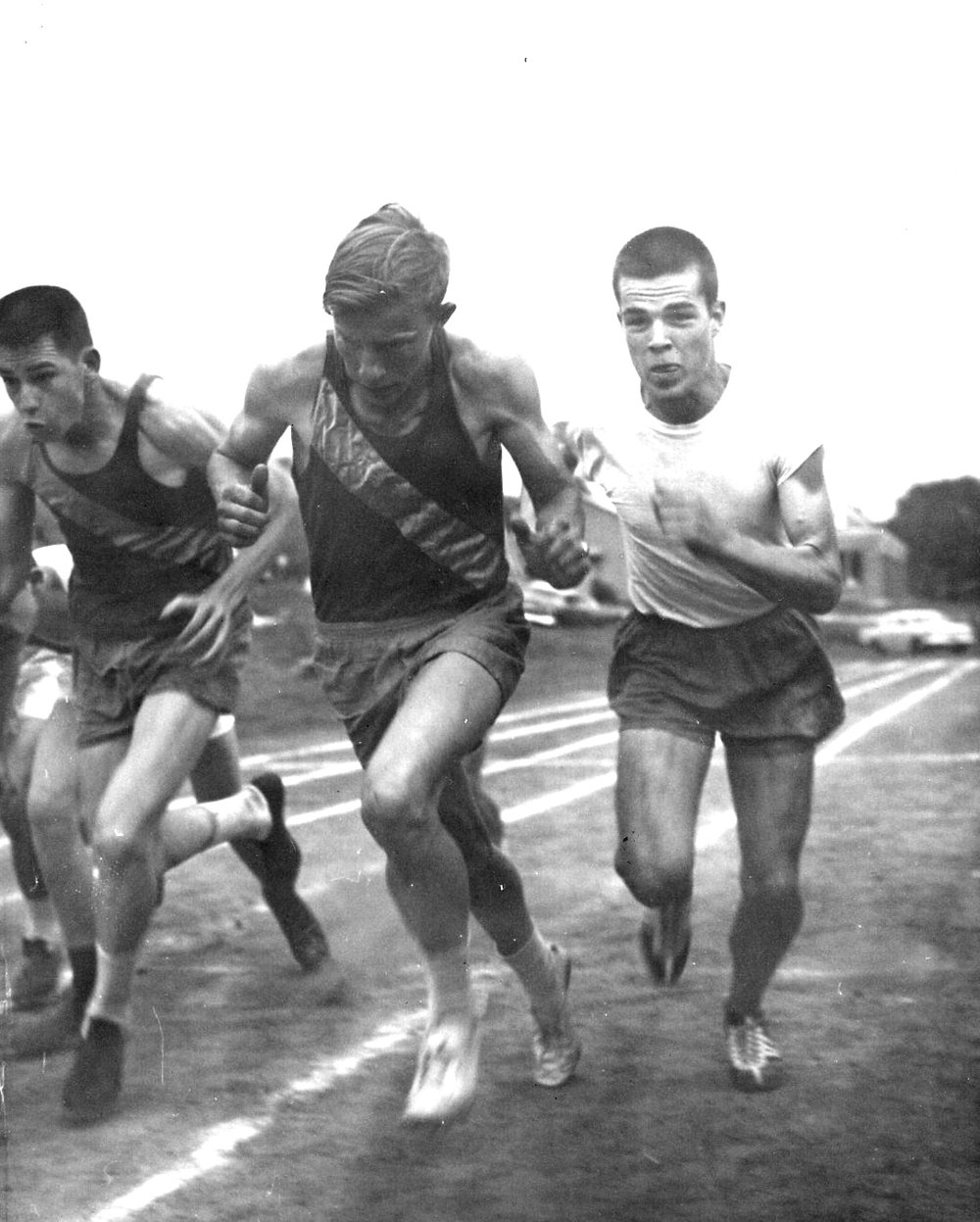 Willie Hudson (center of photo) and Ray Cawood (right)
