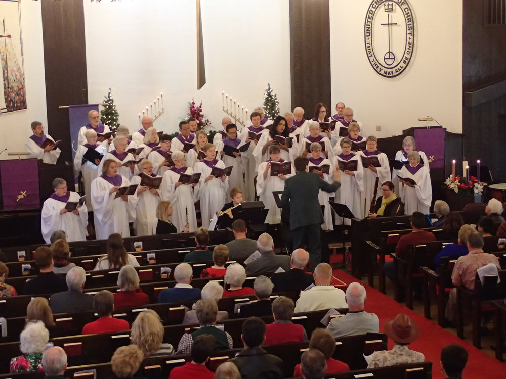 CACC-UCC Chancel Choir singing with joy during the 2018 Choral Cantata.