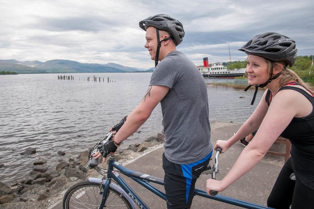 Cycling, Loch Lomond Shores