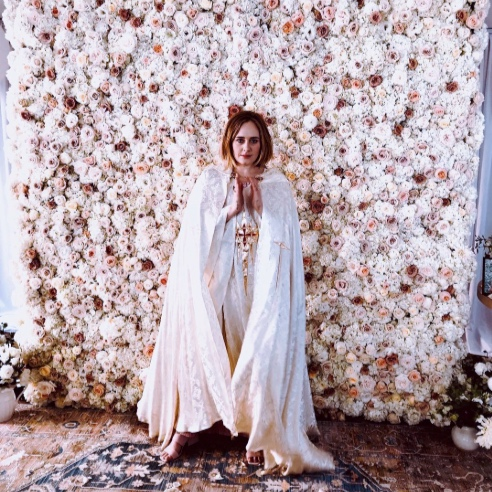 adele flower wall - featured on Vogue, vanity fair, people, martha stewart