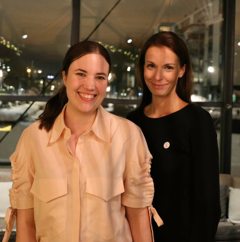 Minä ja Nora Stenvall (Ehdokas, Uusimaa) meidän vaalistartissa 7.2.2018.