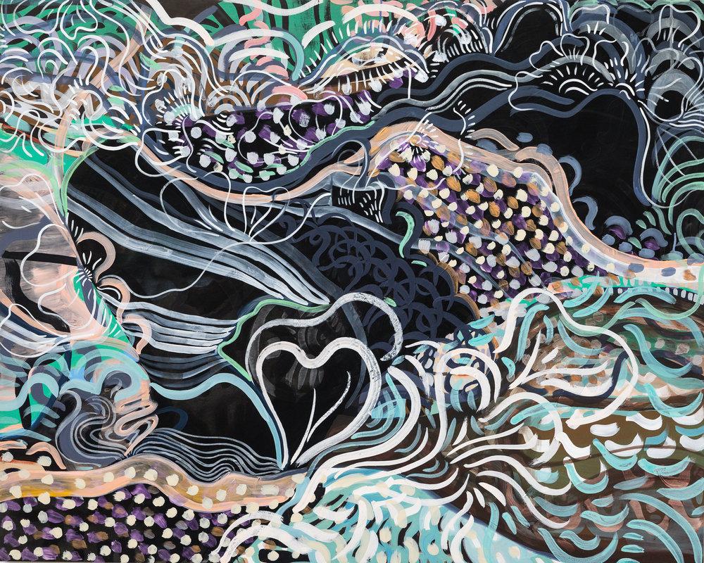 Wylie Garcia, I Think I Know My Geography, Acrylic on Birch Panel, 48 x 60, 2016, 2,400 2500px.jpeg