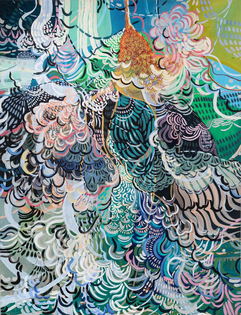 Wylie Garcia, Je Crois Entendre Encore, Acrylic on Cotton, 72 x 66, 2017, 5,000 2500px.jpeg
