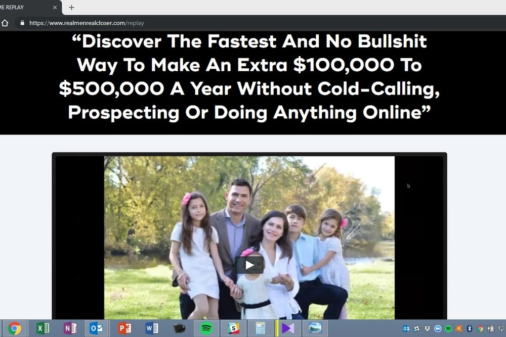 The Following Week… - I received an email from Antonio telling me about a webinar he had shot with Dan Lok. I instantly signed up. I thought possibly they will share with me a way to improve my situation. A way to increase my income…
