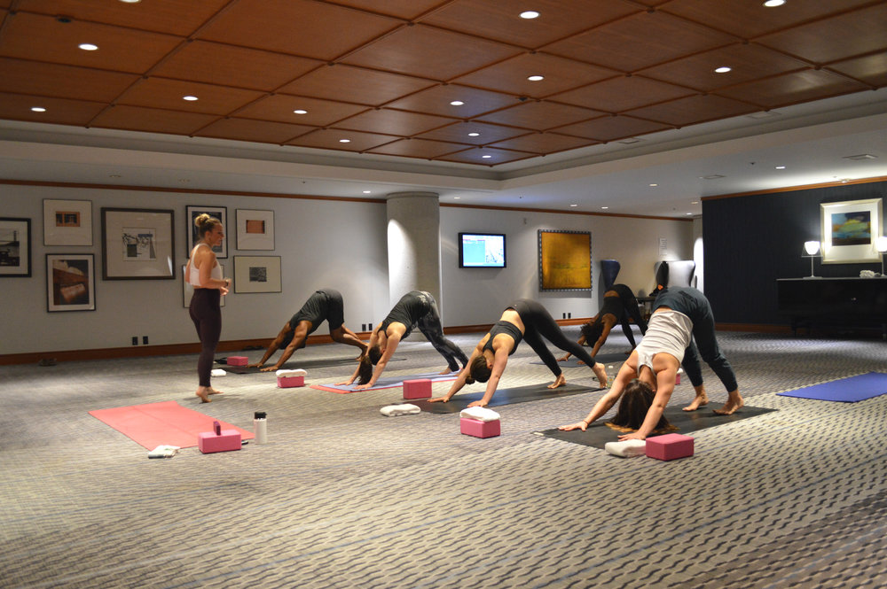 CORPORATE YOGA - LE MERIDIEN HOTEL SAN FRANCISCO WEEKLY COMPLIMENTARY YOGA CLASSES