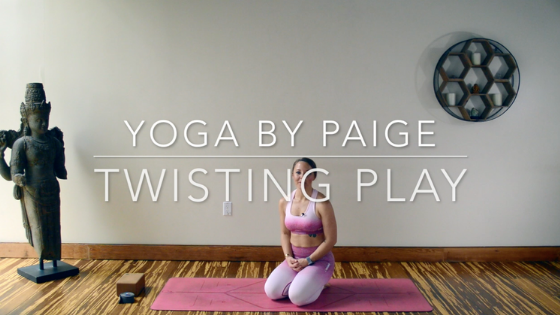 Yoga by Paige Twisting Yoga Flow for Lower Back Pain