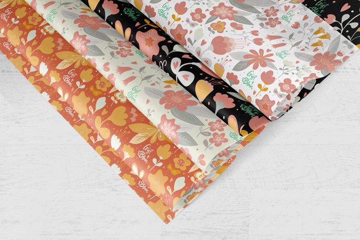 Custom designed wrapping paper