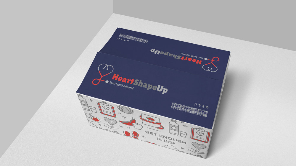 Custom designed shipping delivery box