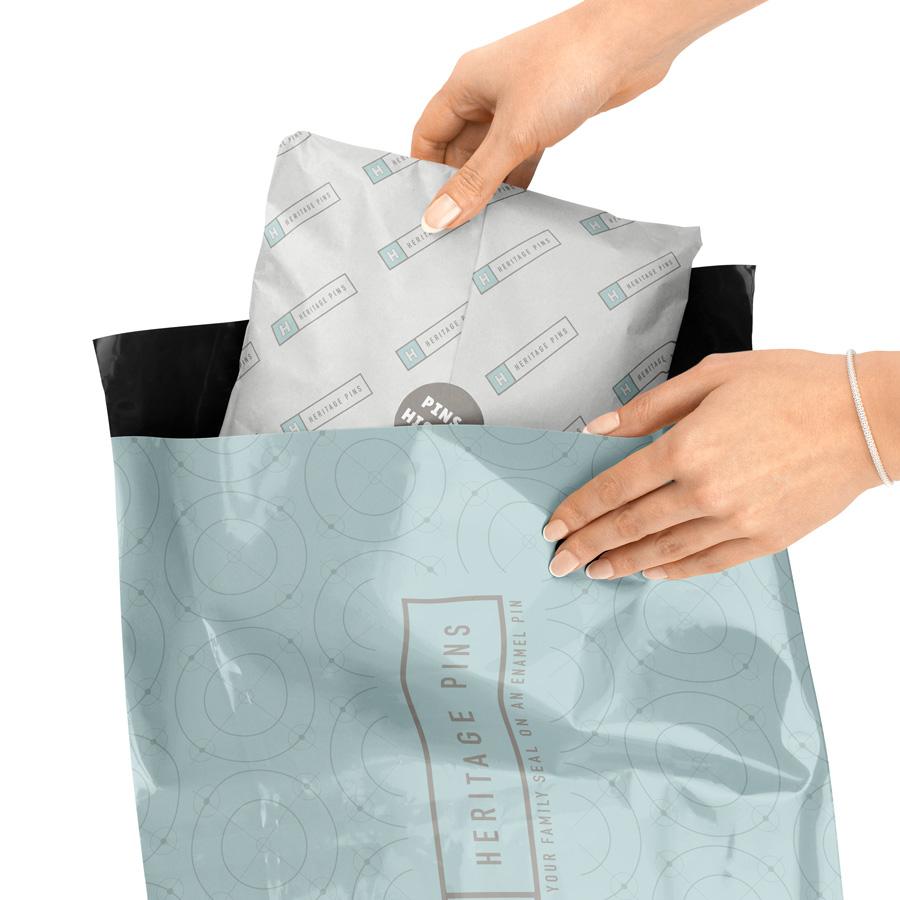 Custom designed mailer poly bag