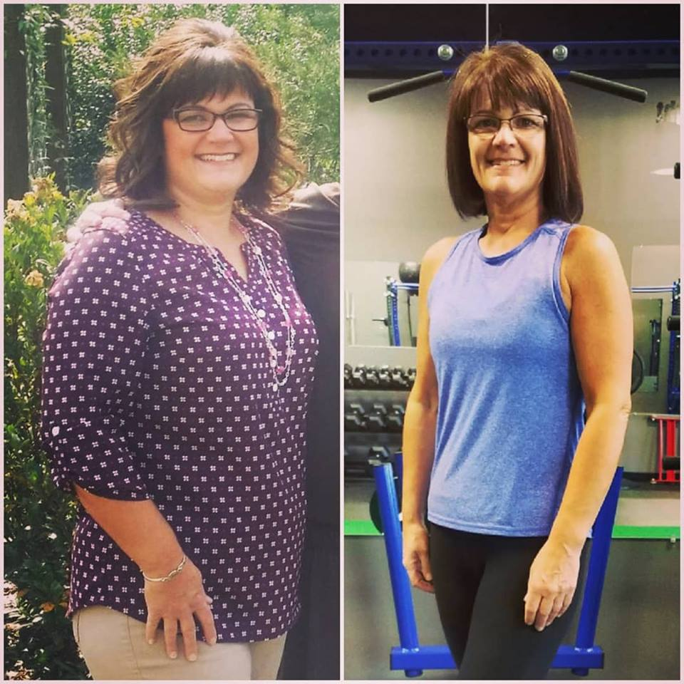 way to go susan! - Sometimes when you see someone several times a week for several months, it takes looking back to realize just how much change has actually happened. This was one of those times! Super proud of you Susan for all of the hard work you've put in this past year! Your consistent (mostly 😜) clean eating coupled with a good mix of hiit, cardio, and strength training has resulted in a drop of 56 lbs and more than a 10% decrease in body fat percentage! Way to go and what a transformation!