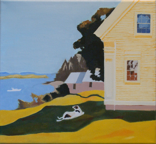 After Island Farmhouse by Fairfield Porter