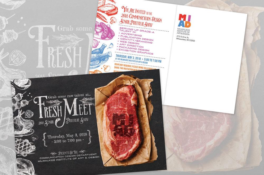 MIAD Senior Portfolio Show Postcard