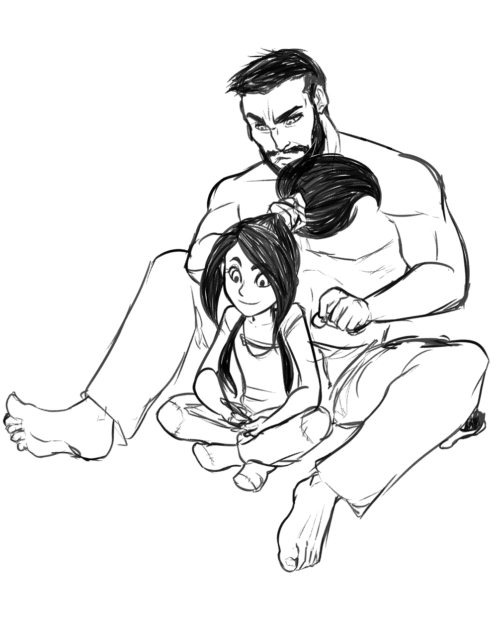 Vivy and Papa by Seph