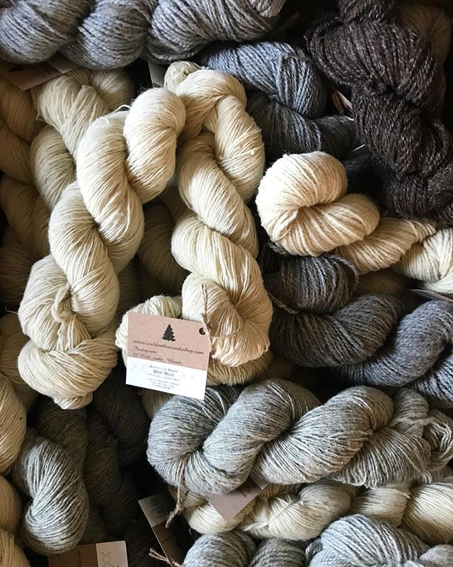 Some soft-core #yarnporn for your Friday morning! This yarn from @wild_inthe_woods is UNREAL y'all. I'm so excited to get each of these made up into all new designs for 2019! Whatcha designing Christie? Guys - 2019 is the year of new beanies for EVERYONE, fingerless gloves, baby sweaters and bonnets and the newest (and biggest) addition: sweaters for dudes and dudettes alike! Yay! Or not yay? It will be more work but so so so worthwhile! . . . . . #yarn #wool #yarnlove #yarnaddict #neutrals #ethicalfashion #slowfashion #knitwear #knitweardesign #yarnaddict #yarnlover #crazyyarnlady #createmakeshare #creativelifehappylife #makersgonnamake #fibre #fibrelove #locallove #madeincanada #shopsmall #shophandmade #handmadeisbetter #yarnobsessed #winterfashion #fallfashion #wip #friyay