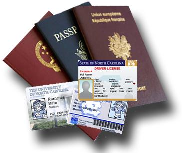 照片ID(以下之一) - 駕駛執照或州頒發的身份證護照學校ID