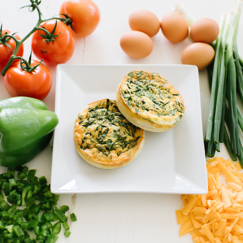 Breakfast Pies |  veggie, ham & cheese, or sausage