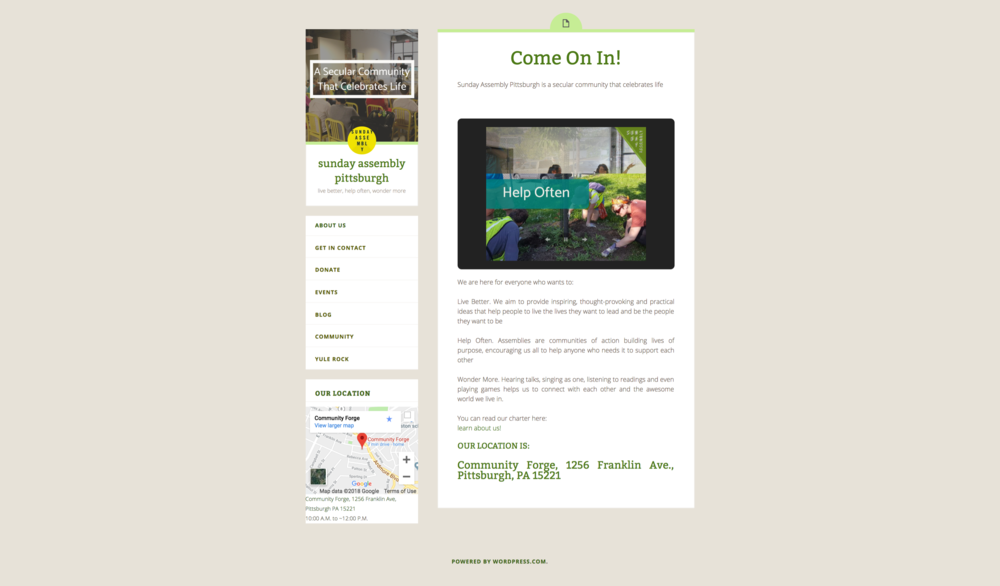 Original Home/About page