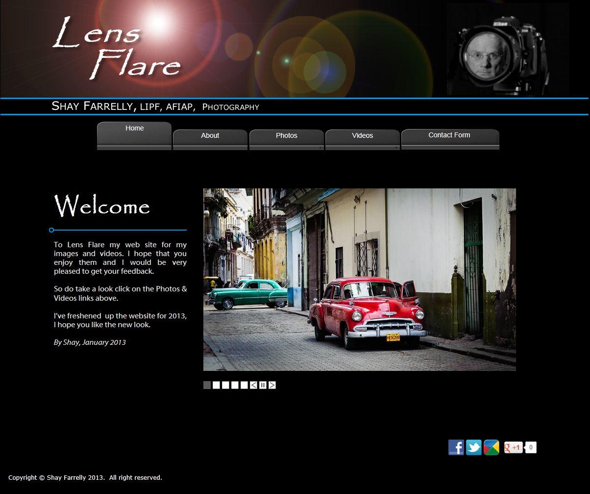 Lensflare Web Site