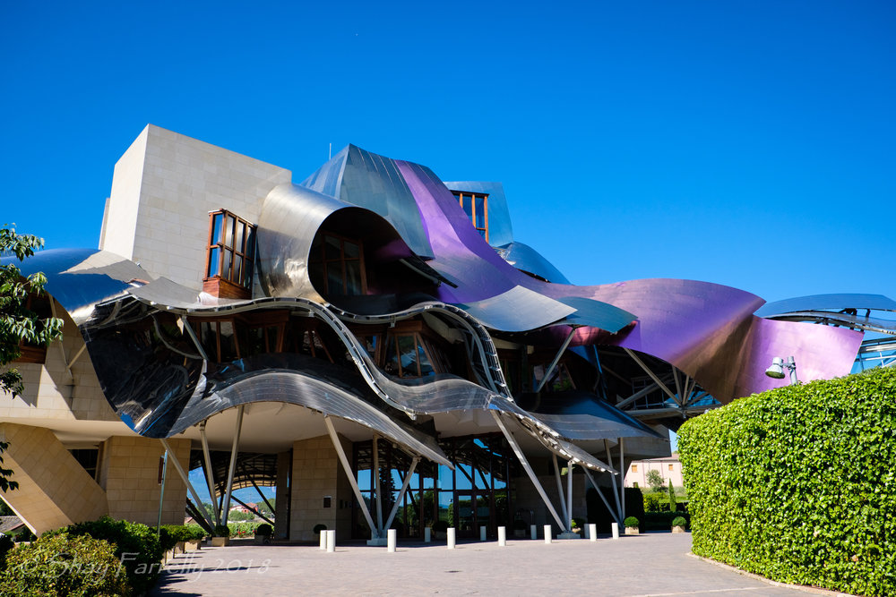 Frank Gehry Hotel at the Marqués De Riscal´s vineyard in the medieval village of Elciego