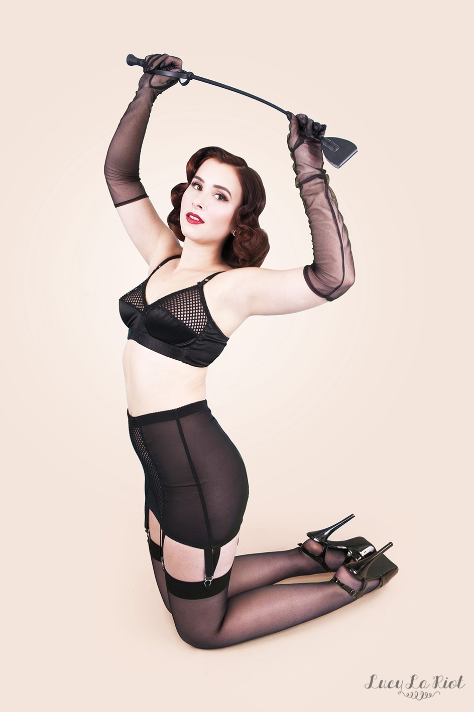 Betty Page inspired shoot with Lucy LA Riot