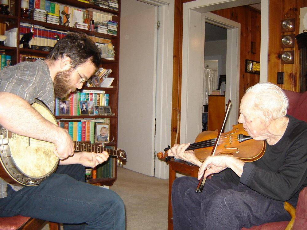 Charlie Acuff and Joseph Decosimo in Alcoa, Tennessee in 2008.