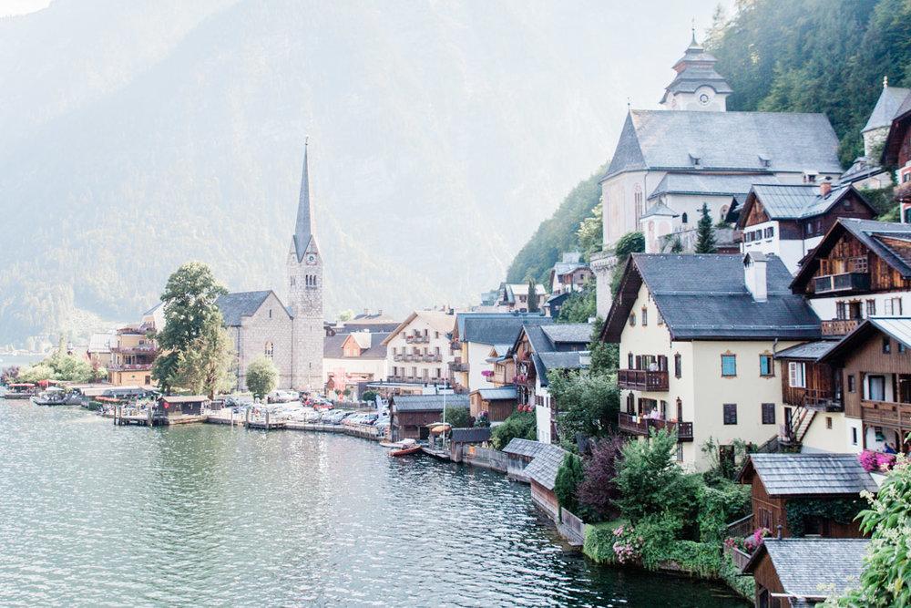 Lakeside mountain town, Hallstatt in summer. It is still wonderfully beautiful in winter!