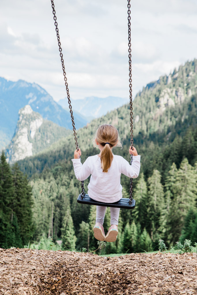 Swinging out into the mountains at Kolbensattel, near Oberammergau, where you will find the alpine coaster.