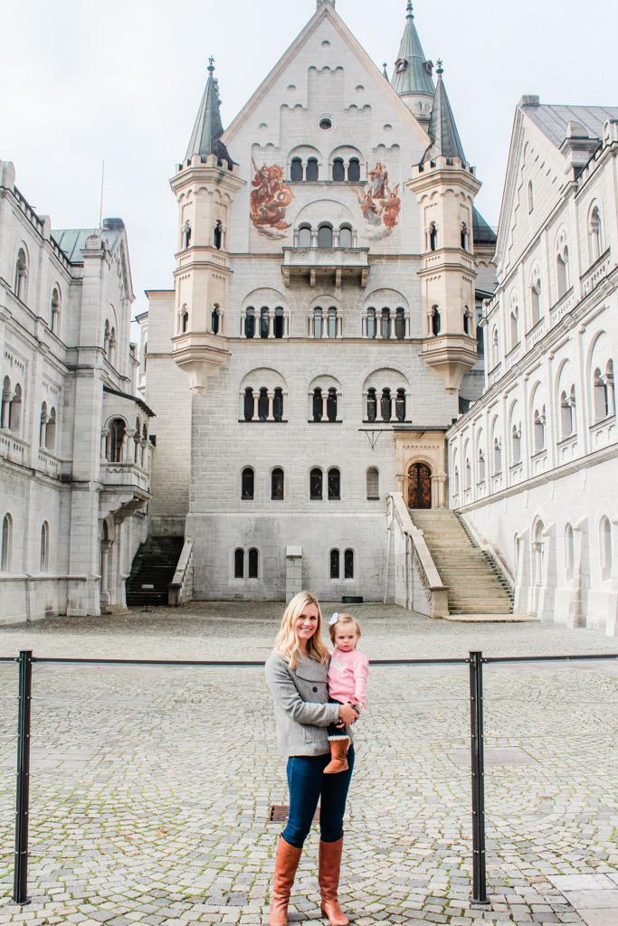 My daughter and I visiting Neuschwanstein Castle.