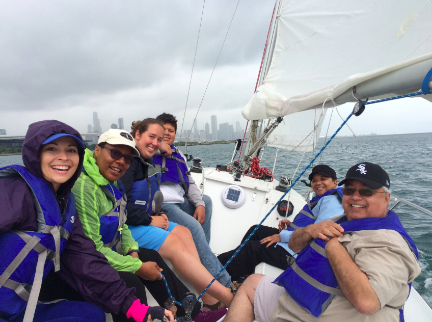 A team from Exelon sailed through clouds, rain and sun! The smiles and sailing stories were shared all day!