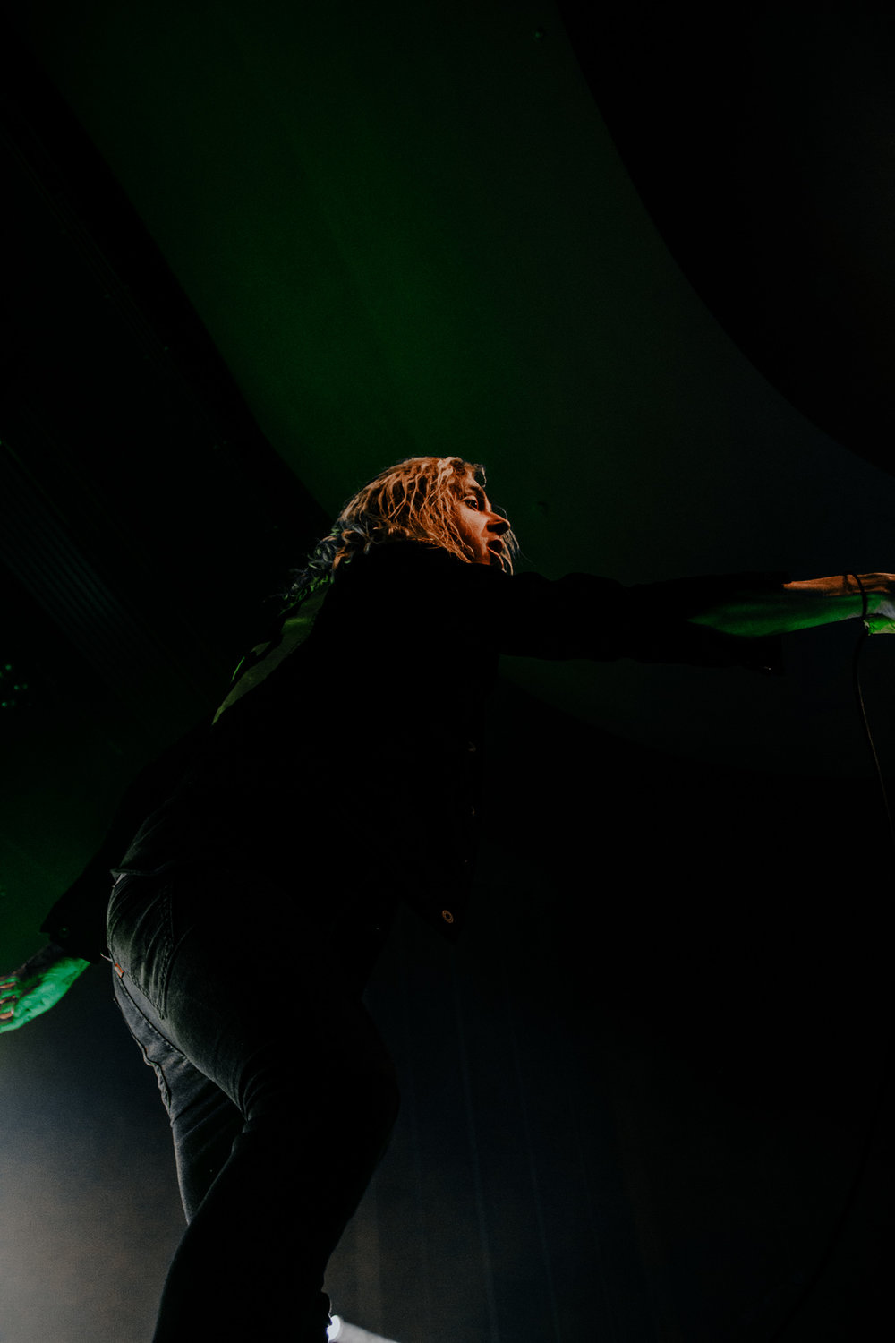 Spencer Chamberlain of Underoath at the Vogue Theatre on November 19th.   This photo of Spencer is my favourite photo I have taken so far. Underoath put on such a great performance and I hope to shoot photos of them again in the future.