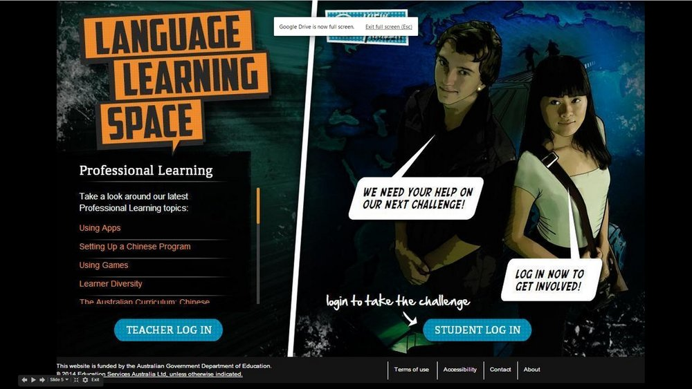 Language Learning SPACE - Featuring over ninety interactive challenges set in a rich and vibrant graphic novel universe, the Language Learning Space connects language students and teachers across Australia.Learn more