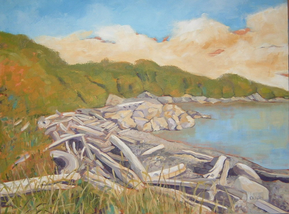 Logs at Cattle Point 18x24 in.