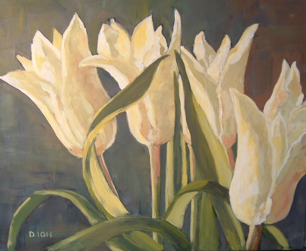 Paper White Tulips 16x20 in.