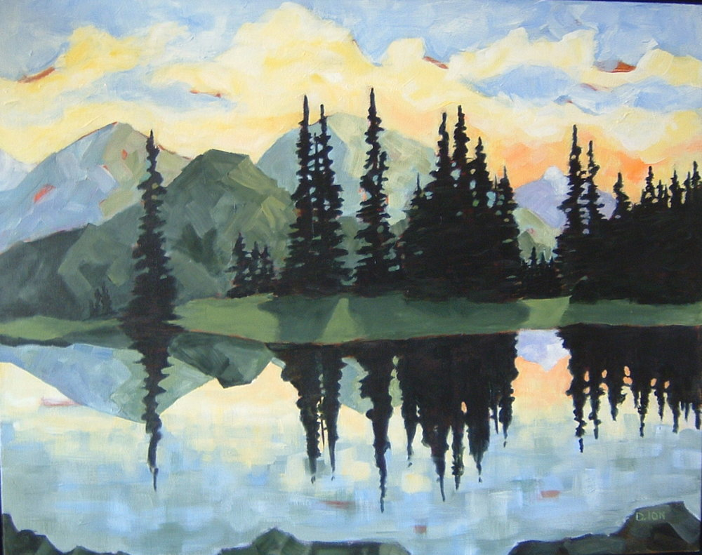 Mountain Lake 24x30 inches