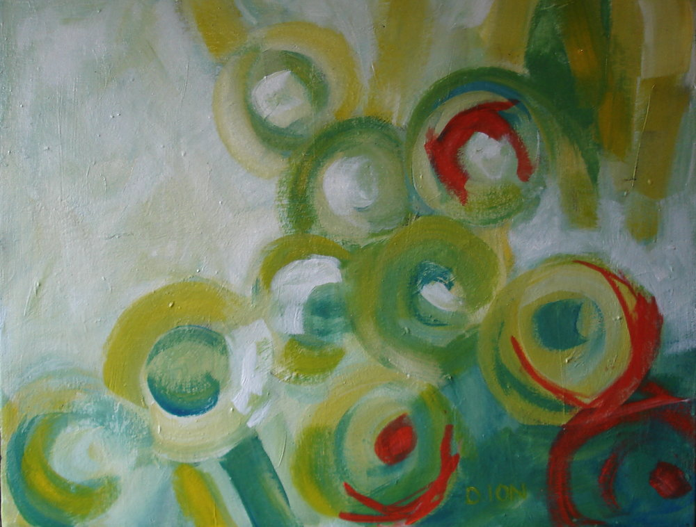 Circles #1 14x18 inches