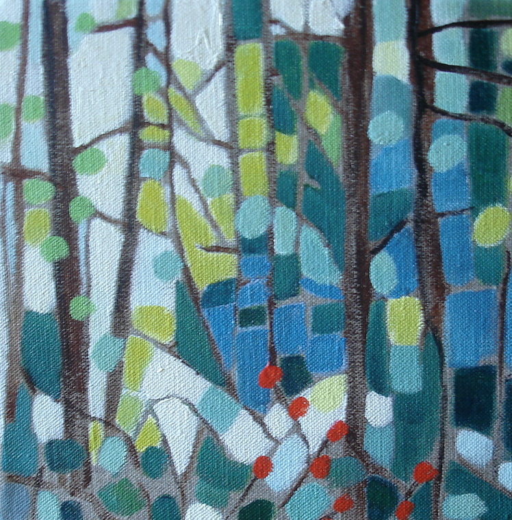 Forest Mosaic 8x8 in. Oil