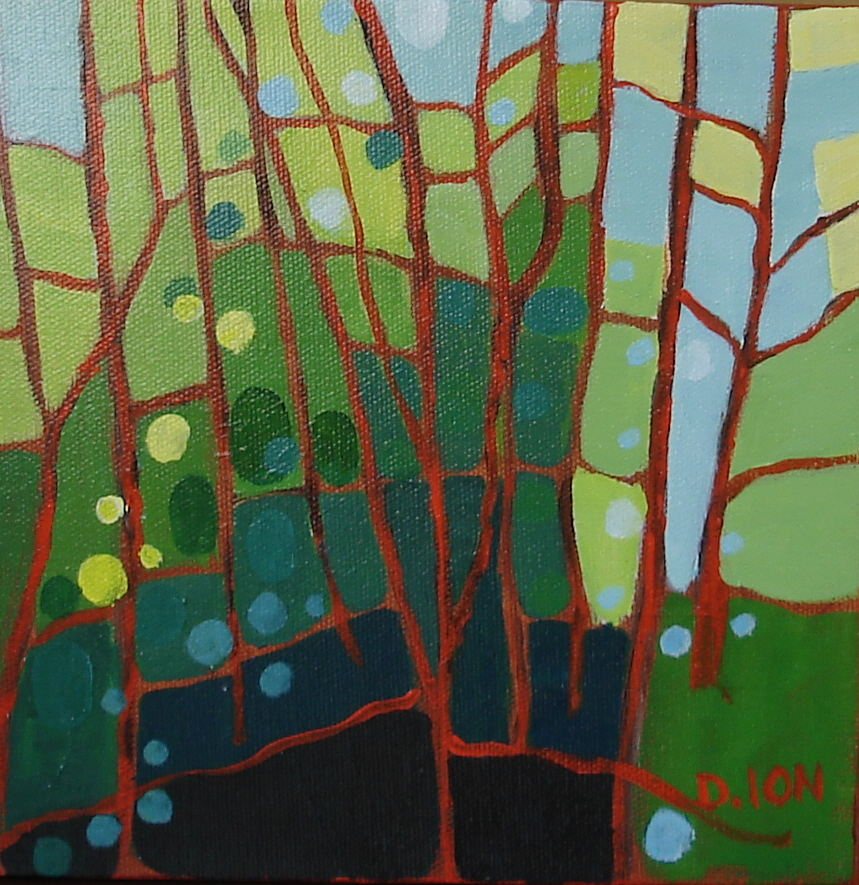 Forest Series #5 8x8 in.