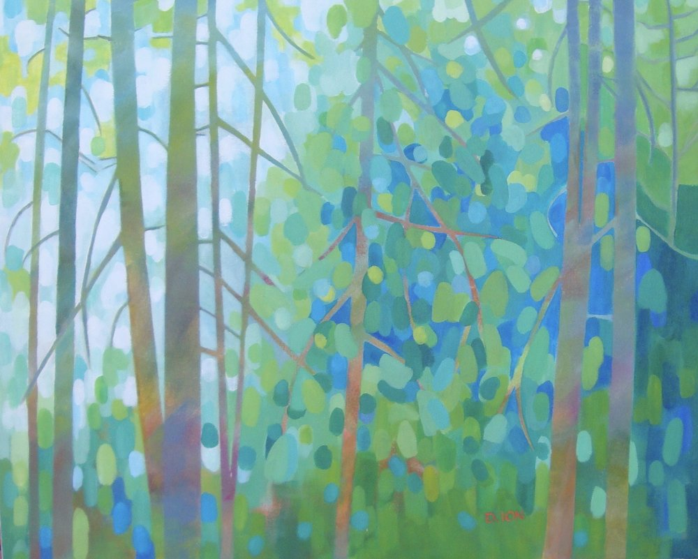 Forest Kaleidoscope 24x30 in.