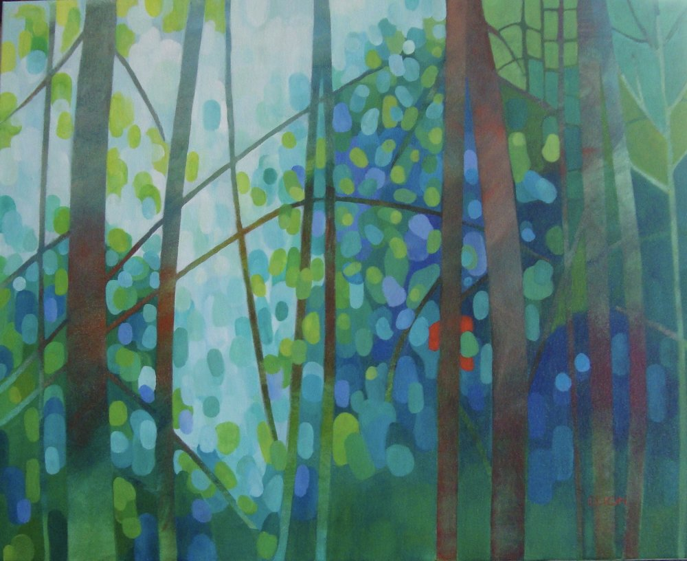 Sunlit Forest 24x30 in.