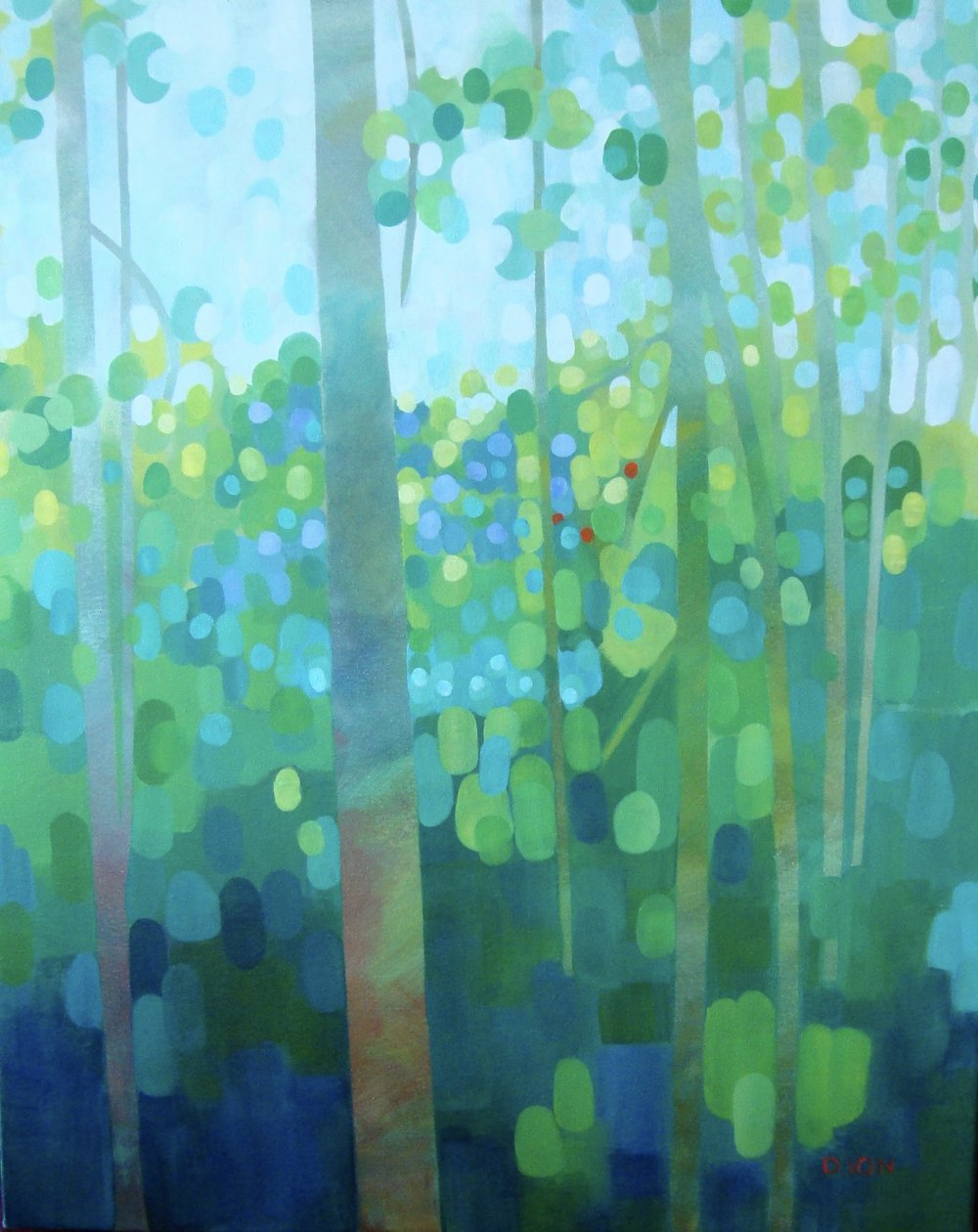 The Patterned Forest 24x30 in.