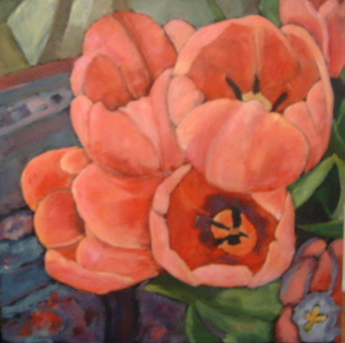 Tulip Quartet 24x24 in.