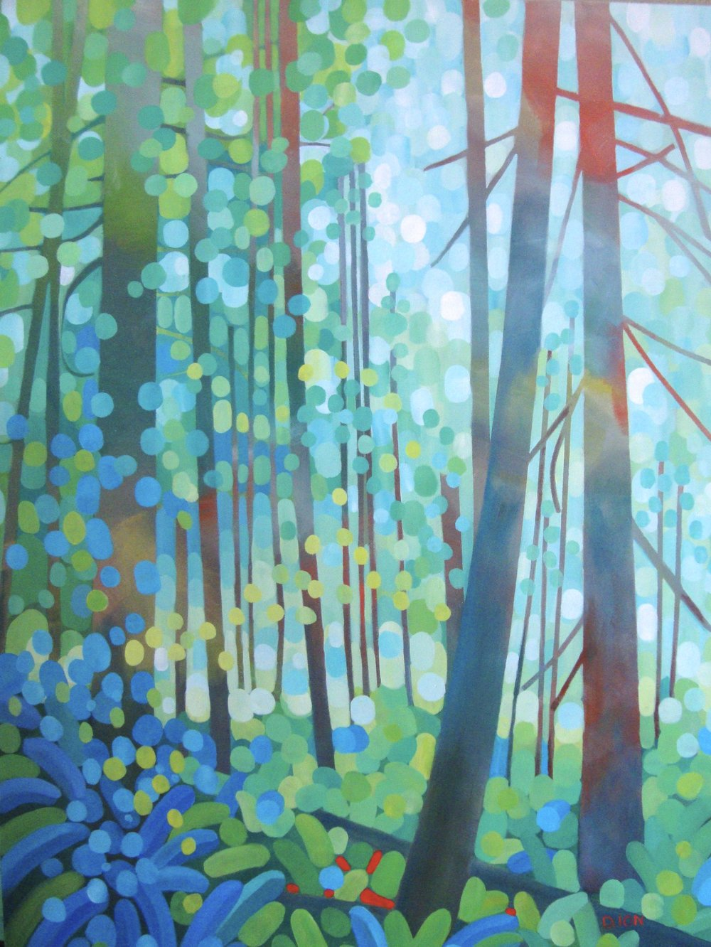 The Forest Floor 30x40 in.