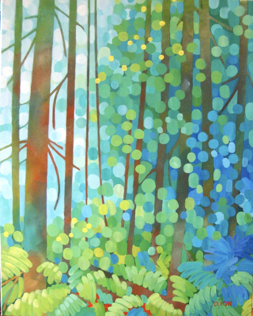 The Fern Woods 24x30 in.