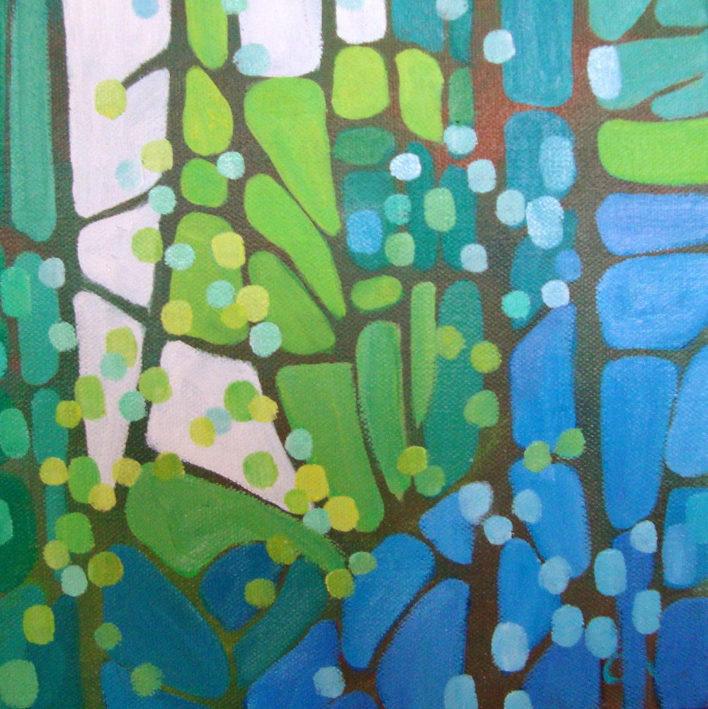 Forest Mosaic #5 oil 8x8 in.