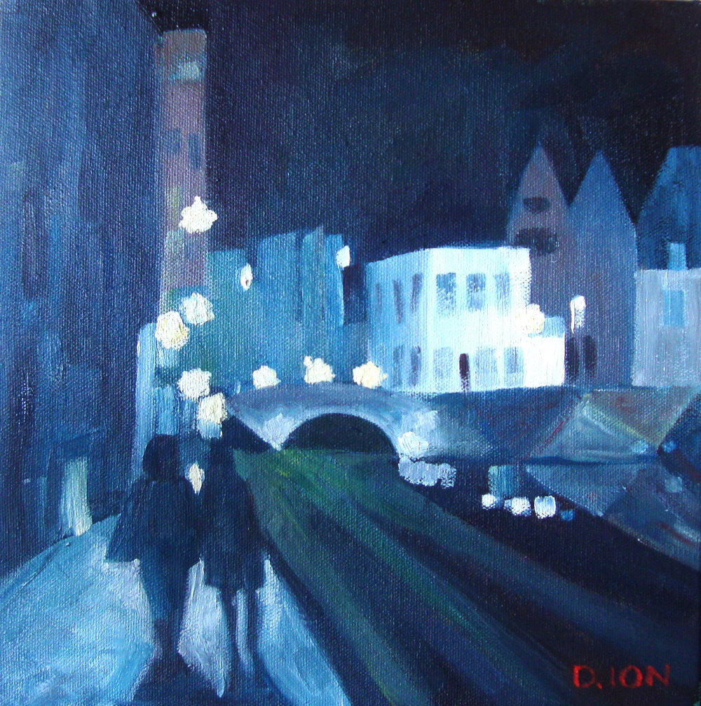 An Evening in Bruges 10x10 in.