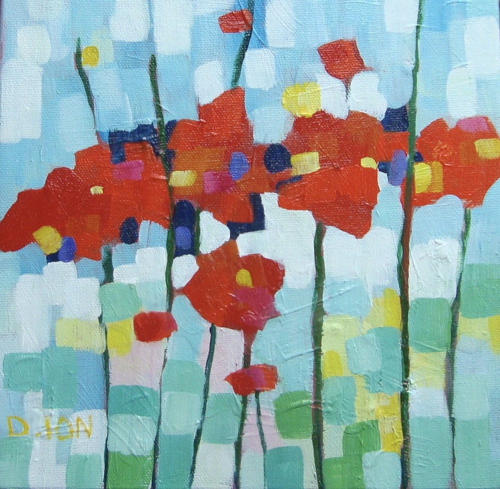 Poppies  1   8x8 in.