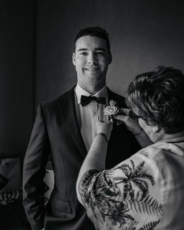 Groom prep with Nathan the legend, shooting for @kristiecarrickphotography