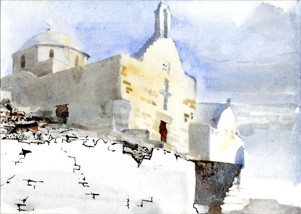 Watercolor by Jun-Pierre Shiozawa