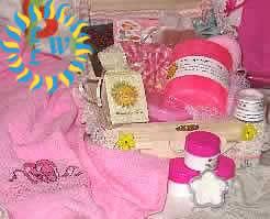 girls pink gift set